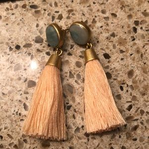 Madewell stone tassel earrings